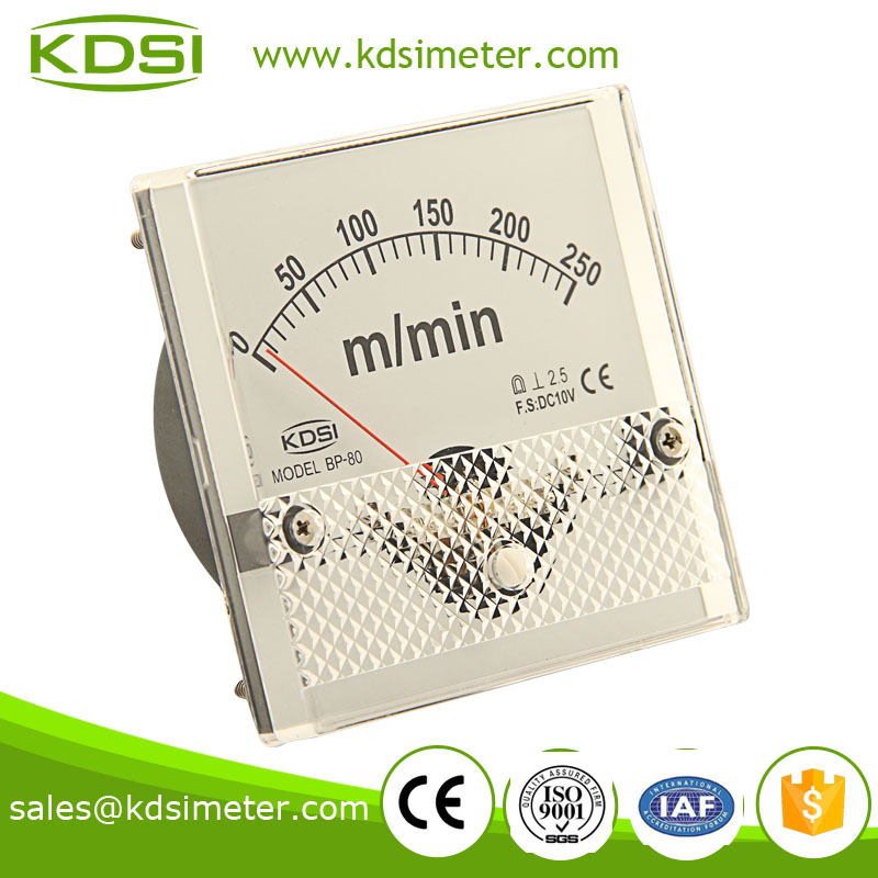 Taiwan technology BP-80 DC10V 250 M / MIN analog rpm meter