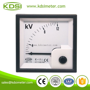 Factory direct sales BE-72 72*72 AC12kV 11/0.1kV with rectifier panel mount generator voltmeter