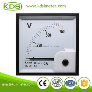 High quality professional BE-96 96 * 96 DC750V dc analog voltmeter gauge