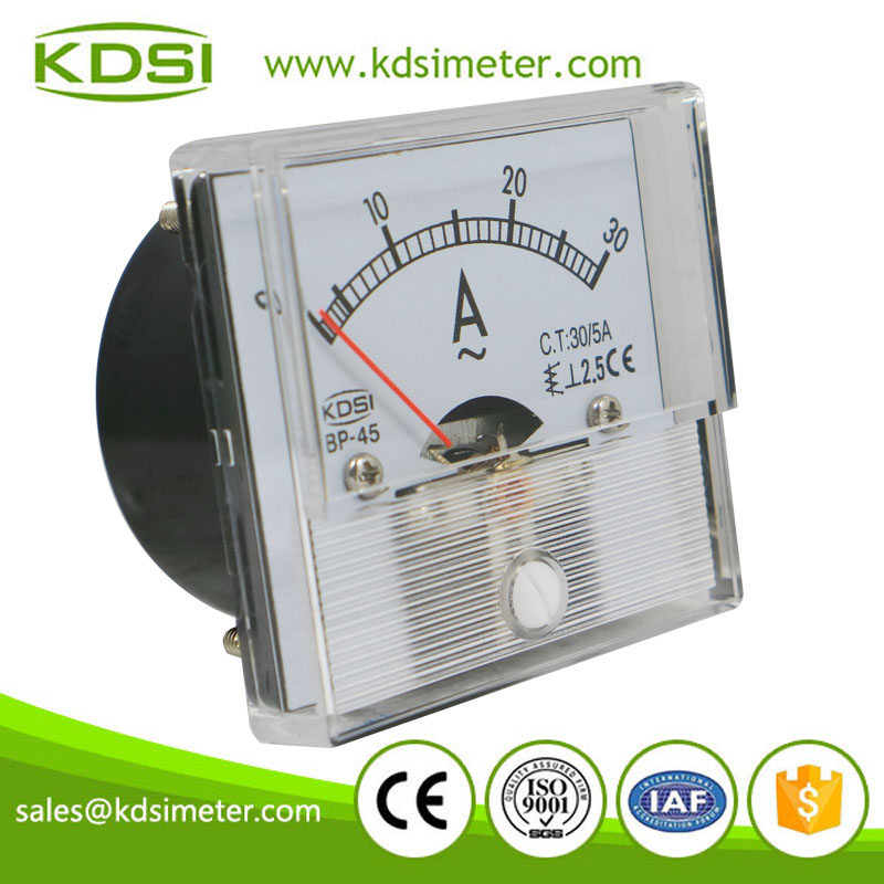 Mini type could be customized BP-45 AC30/5A analog panel ac ammeter for ct