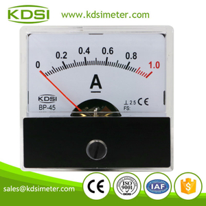Original manufacturer high Quality BP-45 DC1A moving coil mini analog panel amps meter