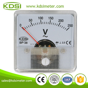 Mini type BP-38 AC250V with rectifier analog panel voltmeter