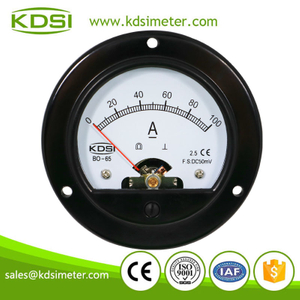 CE Approved BO-65 DC50mV 100A analog round panel meters ammeters