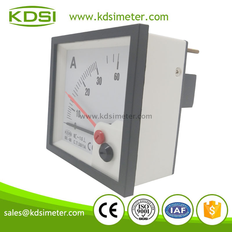 Factory direct sales BE-80 AC30/1A double pointer ac ampere meter