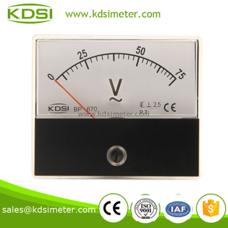 Factory direct sales BP-670 AC voltmeter AC75V panel mount generator voltmeter