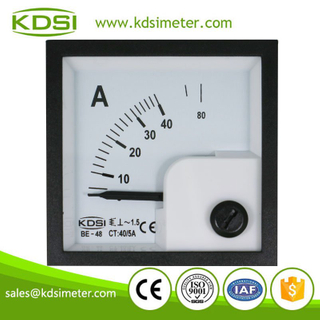 Original manufacturer Best Quality BE-48 AC40/5A panel analog mini ac display ammeter