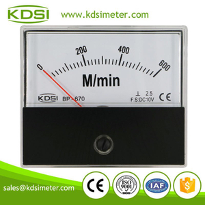 High quality professional BP-670 DC10V 600M/min panel voltage analog tachometer