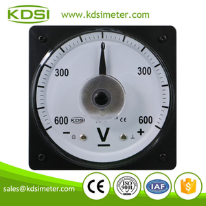 Analog panel LS-110 DC+-600V wide angle zero in center marine voltmeter