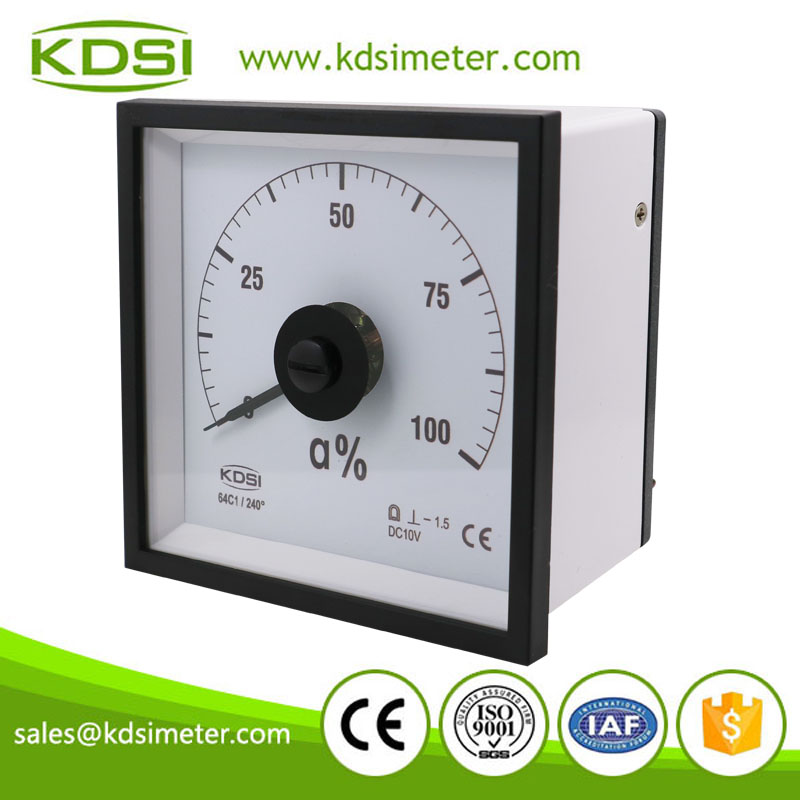 Wide angle marine meter BE-96W DC10V 100%a panel analog voltage rudder angle indicator