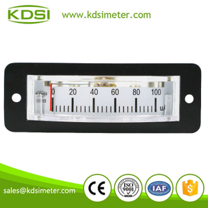 Thin edgewise BP-15 DC100uA analog panel microammeter
