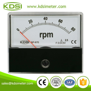 Measurement moving coil BP-670 DC5V 80rpm analog panel rpm meter