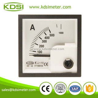 KDSI mini type BE-48 AC500/1A ac analog panel ammeter