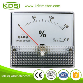 New model square type BP-120S 120*100mm DC1mA 150% analog panel load percent meter