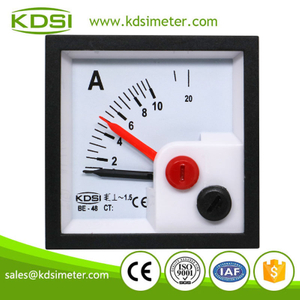 Safe to operate BE-48 48*48mm AC10A with red pointer analog panel mini ammeter