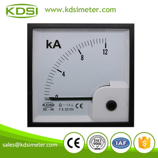 Portable precise BE-96 DC10V 12KA panel analog voltage ammeter