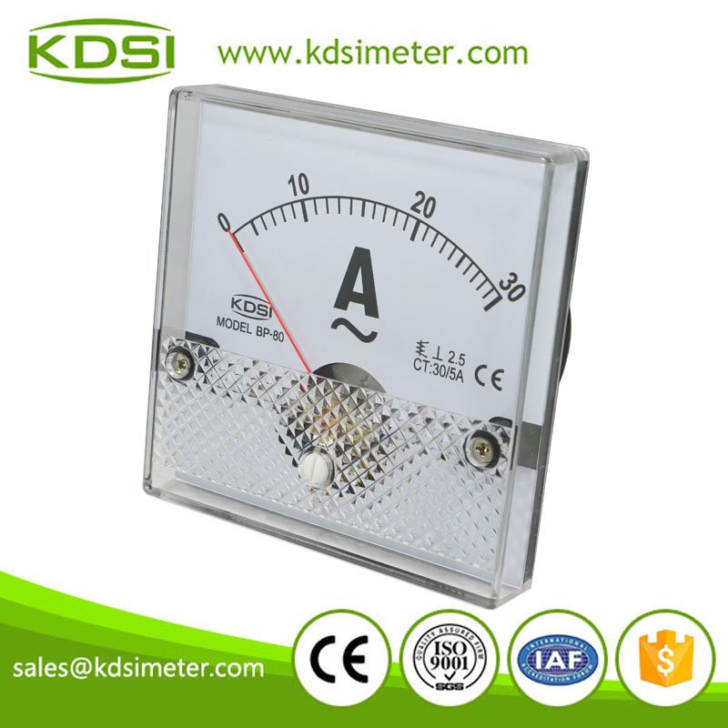 China Supplier BP-80 AC30/5A panel analog ac ampere meter