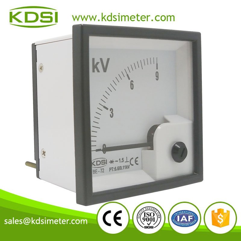 Hot Selling Good Quality BE-72 AC9KV 6.6/0.11KV rectifier electronic analog panel kilovoltmeter