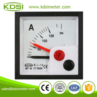 KDSI mini type BE-48 AC150/5A double pointer panel ac ammeter