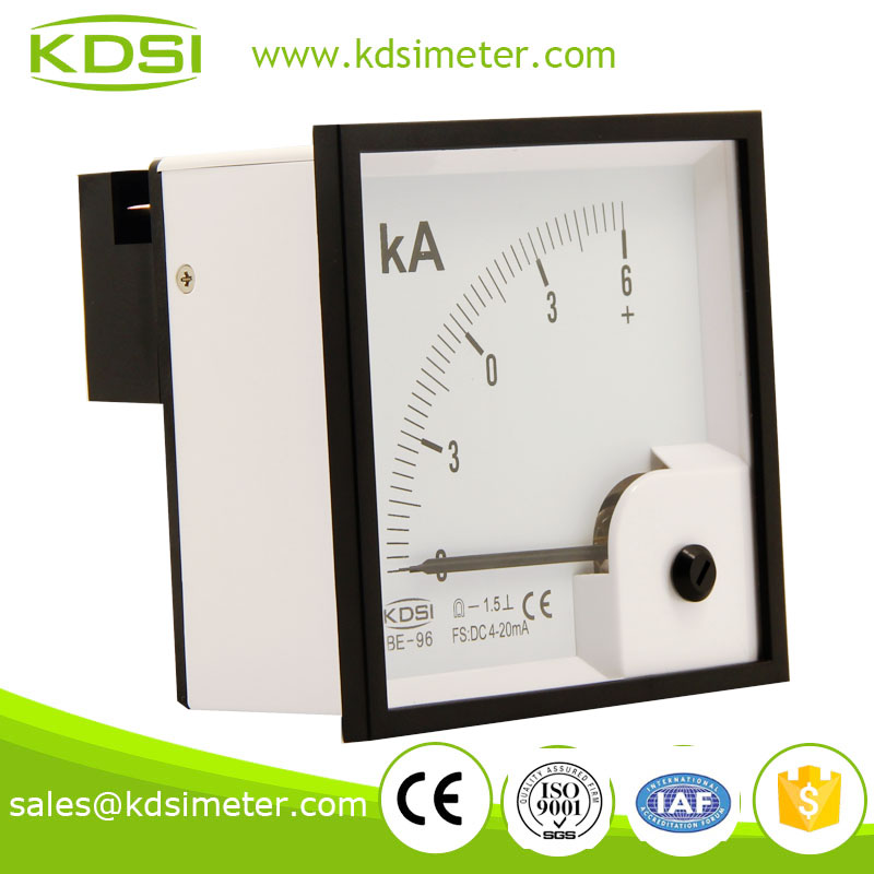 BE-96 DC Ammeter DC4-20mA +-6KA zero center meter in current meter