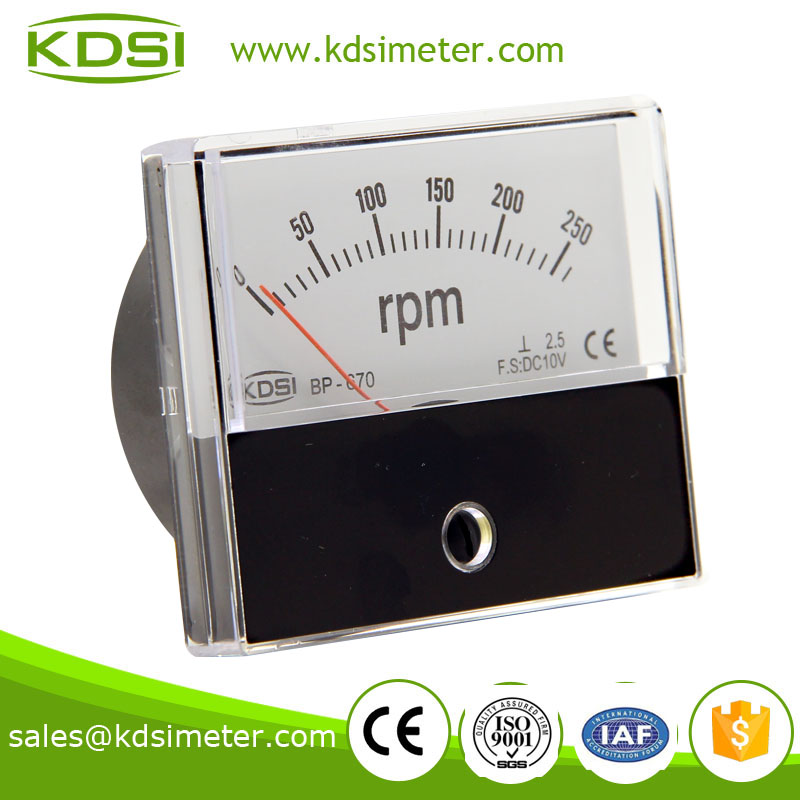 Factory direct sales BP-670 60*70mm DC10V 250rpm rpm meter