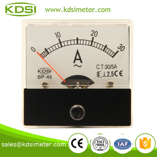 Square type BP-45 AC30 / 5A analog ac ampere meter