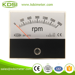 Industrial universal BP-670 60*70mm DC10V 1800rpm analog rpm meter