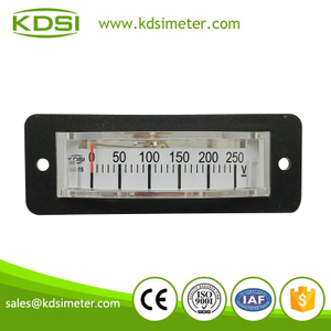 Small & high sensitivity thin edgewise BP-15 DC250V panel analog dc voltmeter