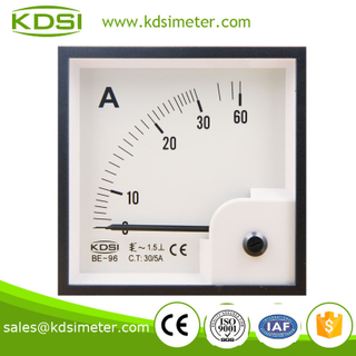 BE-96 96*96 AC Ammeter AC30/5A panel industrial current meter