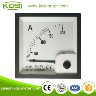 KDSI electronic apparatus BE-80 AC150 / 5A panel ampere meter