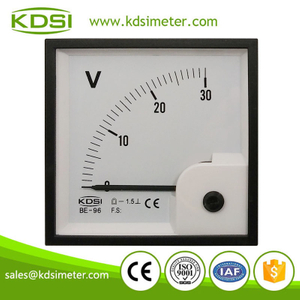 Instant flexible BE-96 96 * 96 DC30V dc voltmeter gauge