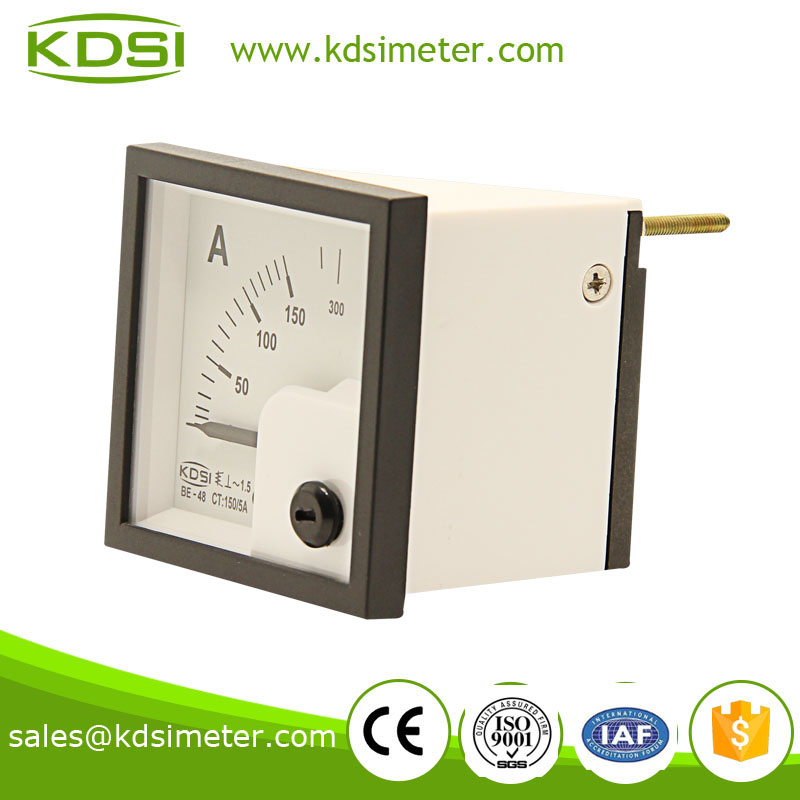 Square mini type BE-48 AC Ammeter AC150/5A ac ampere meter