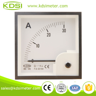 Waterproof BE-96 96*96 DC10V 30A display ammeter and voltmeter panel
