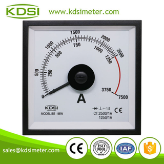 Hot Selling Good Quality BE-96W AC2500/1A 3 times overload display wide angle analog panel ampere meter