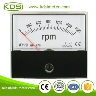 Original manufacturer high Quality BP-670 DC30V 1800rpm panel analog motor rpm meter