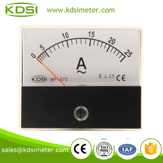 BP-670 AC Ammeter AC25A KDSI hot sales analog galvanometer,Battery charger meter