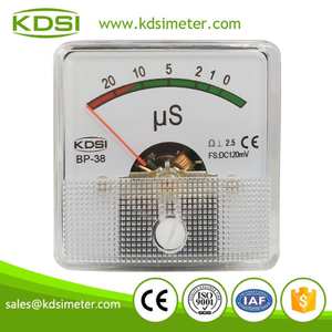 Safe to operate mini type BP-38 DC120mV uS analog dc panel milivoltmeter