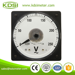 CE certificate LS-110 AC250V rectifier wide angle marine analog ac panel mount voltmeter
