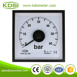Wide angle BE-96W DC4-20mA 60bar analog panel marine pressure meter