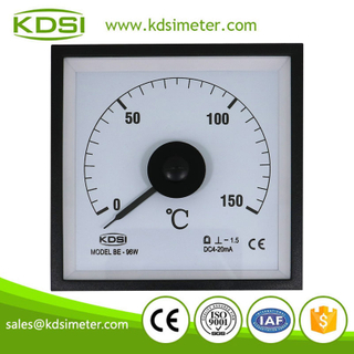 CE certificate wide angle BE-96W DC4-20mA 150C analog panel amp temperature meter