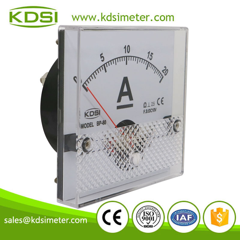 High quality professional BP-80 DC10V 20A analog dc amp panel meter
