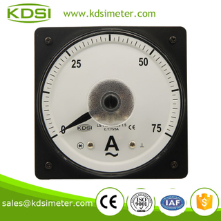 LS-110 AC Ammeter 75/5A wide angle ac analog ammeter