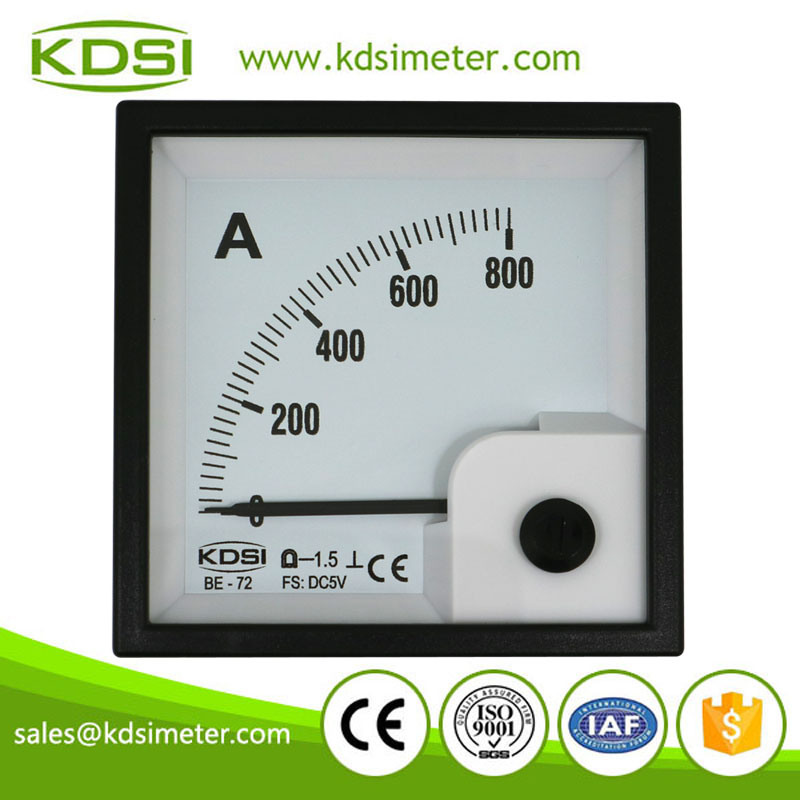 Safe to operate BE-72 DC5V 800A analog panel dc volt amp meter