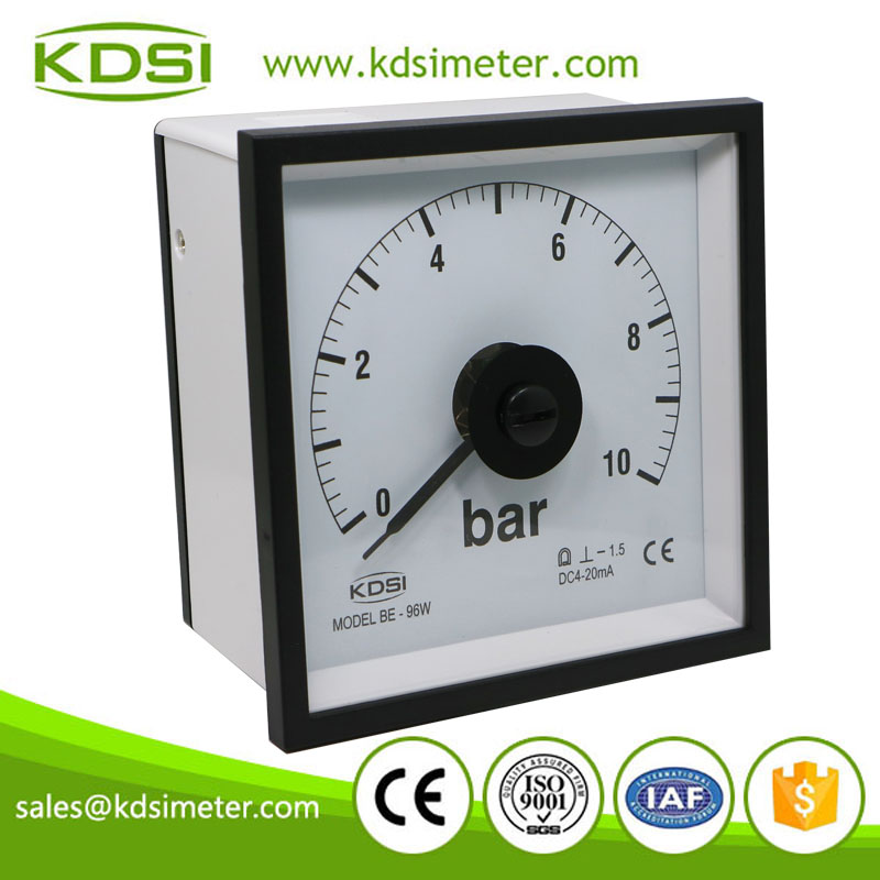 20 years Professional Manufacturer BE-96W DC4-20mA 10bar analog panel mount pressure gauge