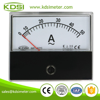 China Supplier BP-670 AC50/5A panel analog ac ammeter ac voltmeter