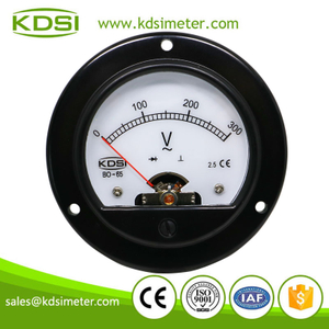 Round type Instant flexible BO-65 AC300V panel backlighting ac volt mount meter