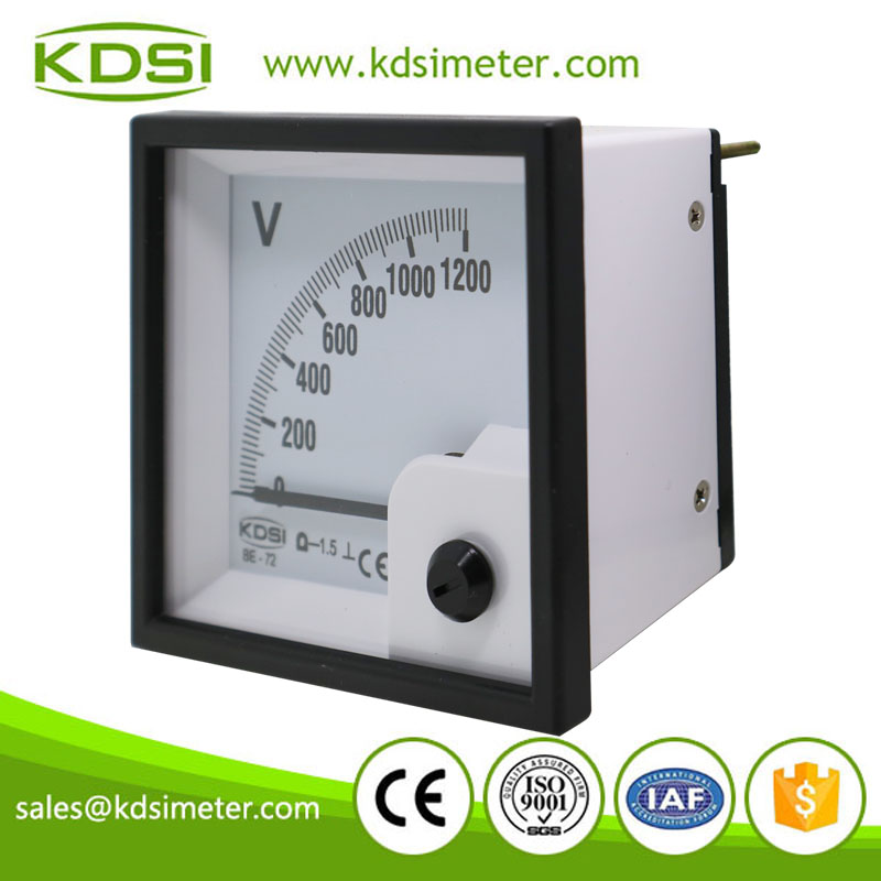Hot Selling Good Quality BE-72 DC1200V direct analog dc panel mount voltmeter