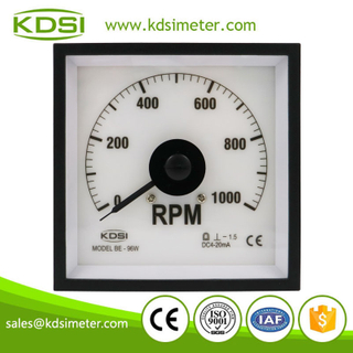 Hot Selling Good Quality BE-96W DC4-20mA 1000rpm backlighting analog panel marine tachometer