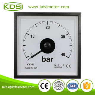 Hot Selling Good Quality BE-96W DC4-20mA 40bar analog wide angle panel pressure meter
