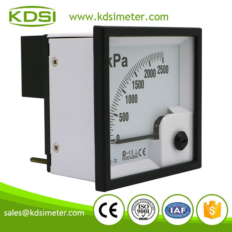 20 Year Top Manufacturer of CE,ISO passed BE-72 DC4-20mA 2500kpa analog current pressure panel meter