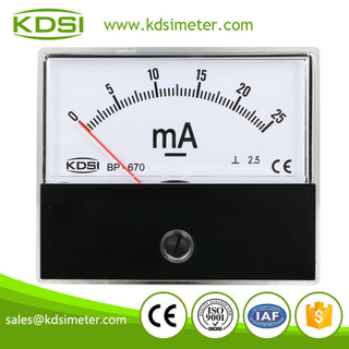 China Supplier BP-670 DC25mA analog panel milliammeter
